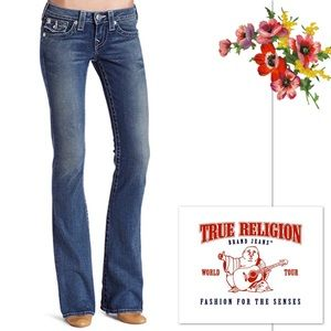 True Religion Becky Natural Stitch Basic Jean
